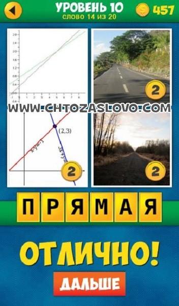 4 Фото 1 Слово: Продолжение уровень 10 вопрос 14
