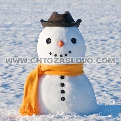 Ответ: снеговик